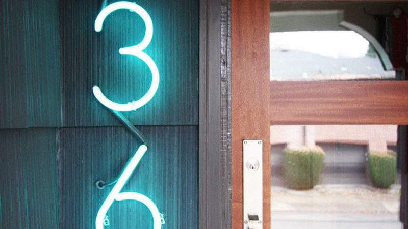 Modern House Number Ideas Dress Your Home