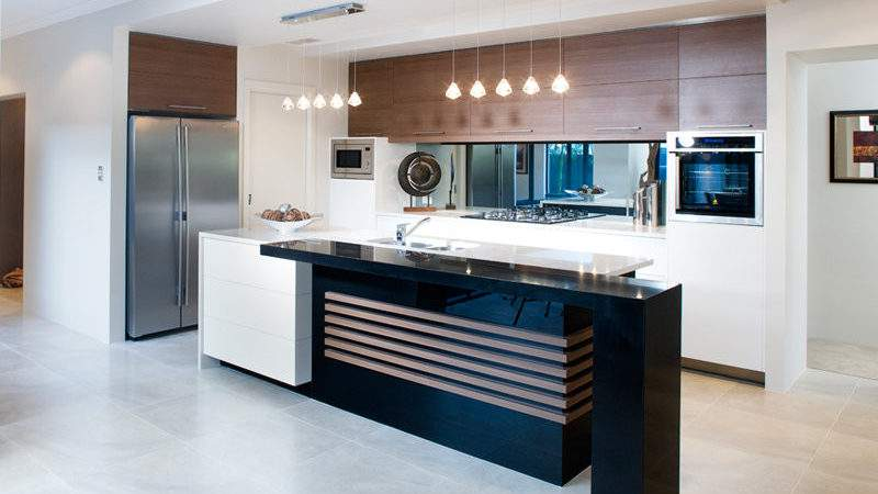 Modern Kitchen Living Design Using Marble