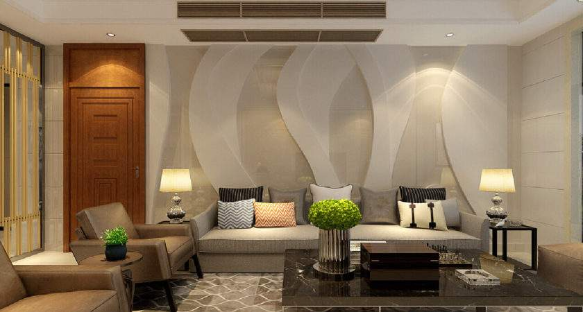 Modern Living Room Decoration Architecture