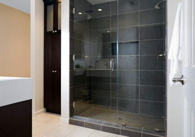 Modern Master Bath Shower Contemporary Bathroom