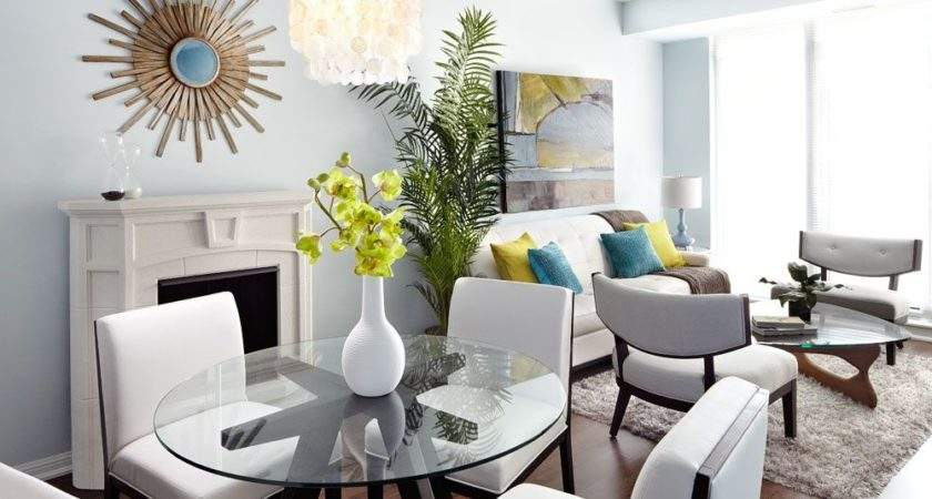 Modern Open Concept Condo Dining Living Room Lux