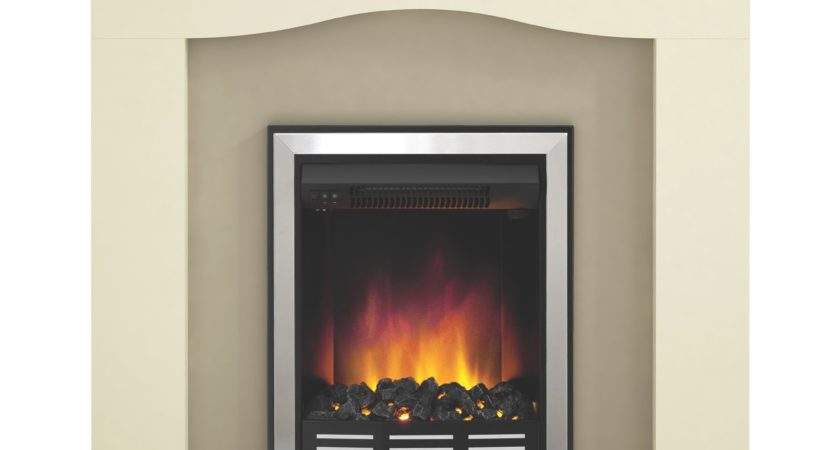 Modern Penelope Soft White Led Electric Fire Suite