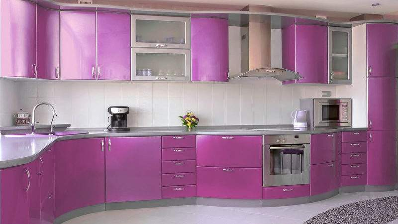 Modern Purple Kitchens Design Ideas