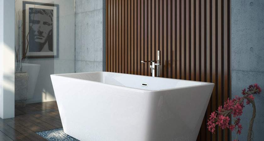 Modern Square Freestanding Bath