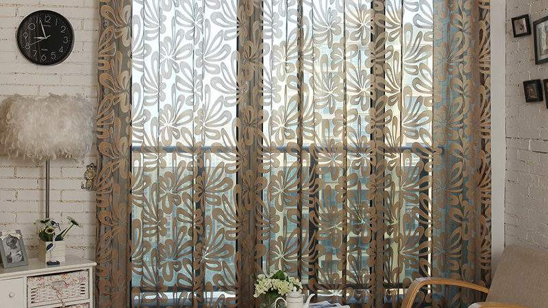 Modern Voile Curtains Pattern House Plan