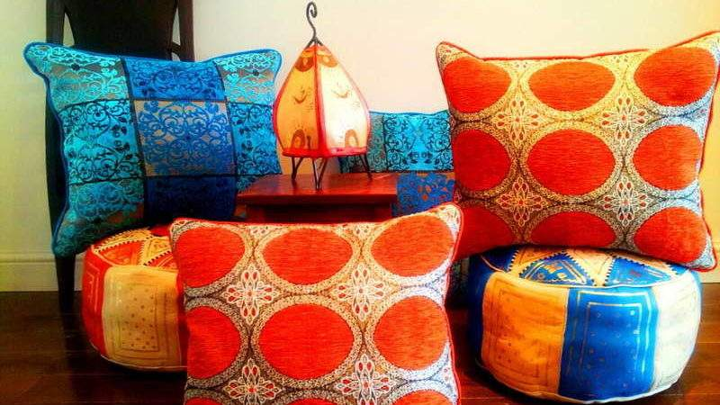 Moroccan Style Fabric Floor Pillows Your Dream Home