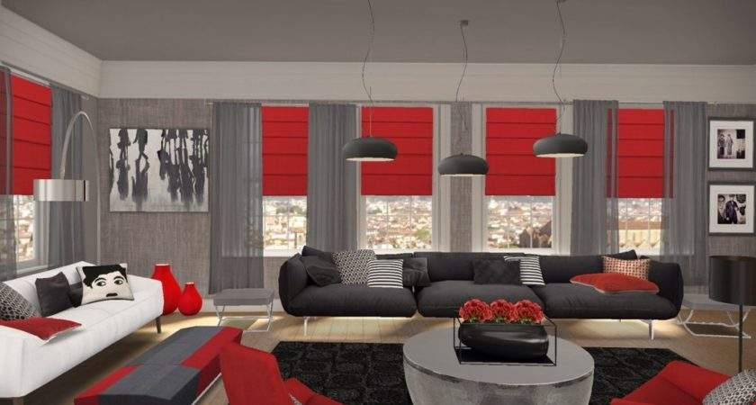 Most Fashionable Red Living Room Decor Designs Ideas