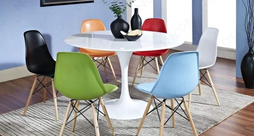 Multi Colored Leather Dining Chairs