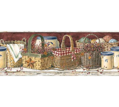 Mural Portfolio Country Kitchen Border Wayfair