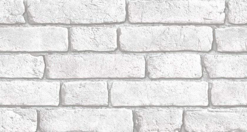 Muriva White Brick Wall Clearance Diy