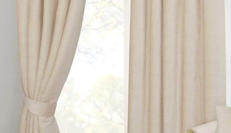 Natural Cream Chenille Pencil Pleat Lined Thermal Ready