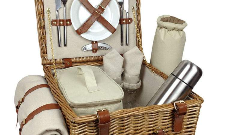 Natural Person Picnic Basket Luxury Hamper Candle