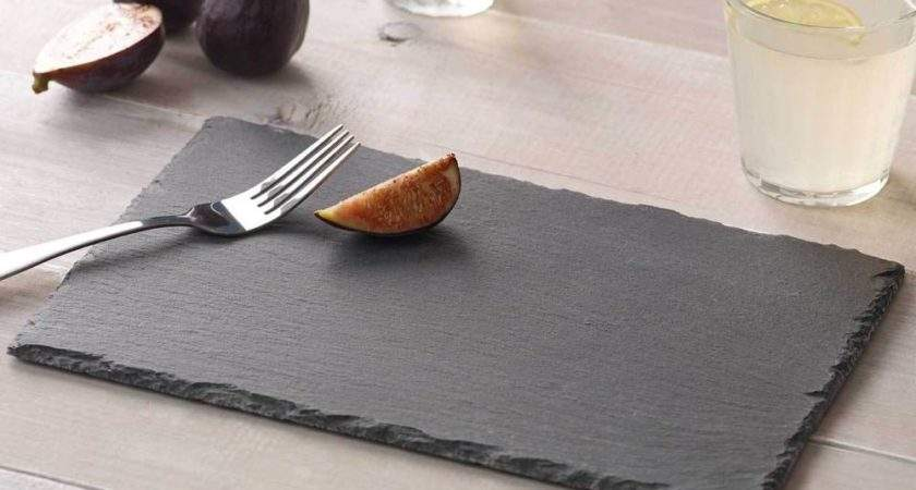 Natural Slate Placemats Dinner Table Setting Place Mats Ebay