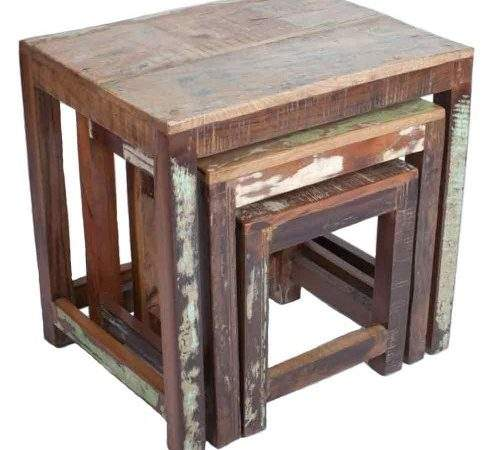 New England Recycled Wood Nest Tables