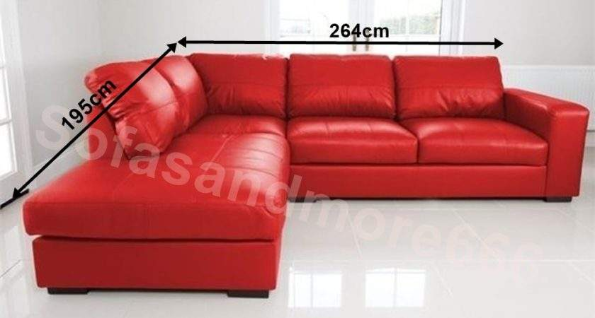 New Westpoint Corner Sofa Faux Leather Red Left