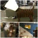 Next Home Lamp Mink Glass Table