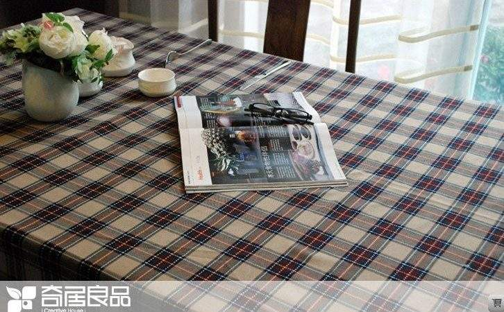 North American Country Style Cotton Linen Tablecloths