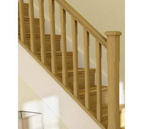 Oak Stop Chamfer Stairpart Kit Step