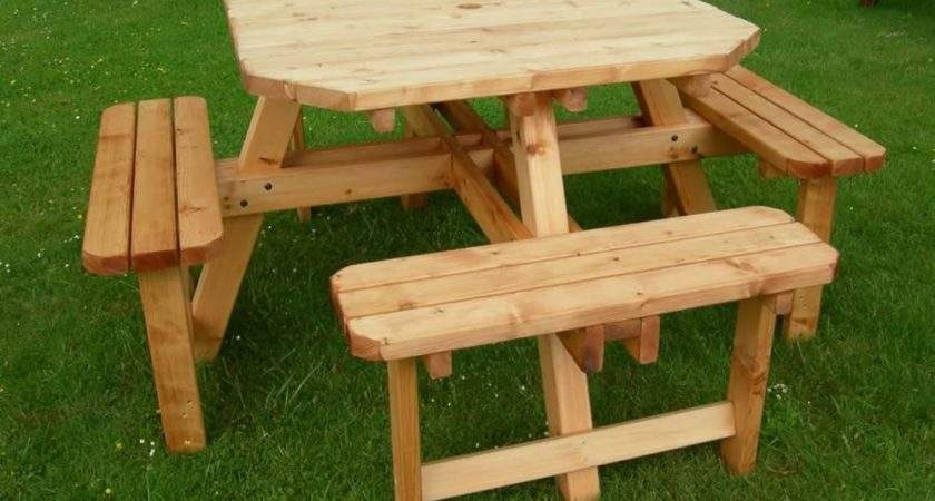 Octagonal Seater Picnic Bench Garden Furniture Buy