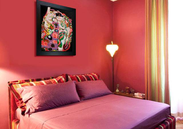 Oil Paintings Bedrooms Contemporary Bedroom