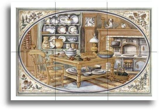 Old Fashioned Kitchen Tile Mural