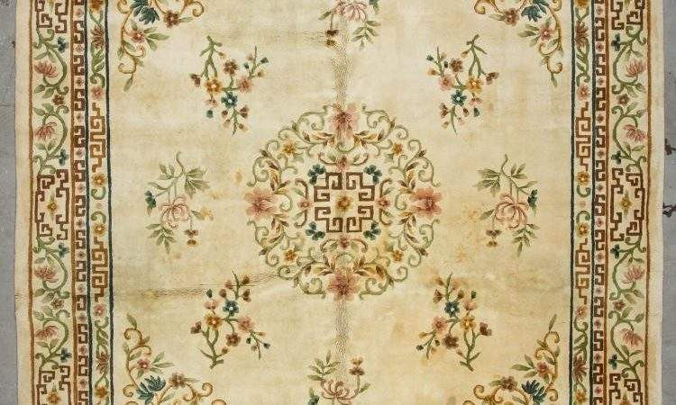 Old Indian Art Deco Style Rug