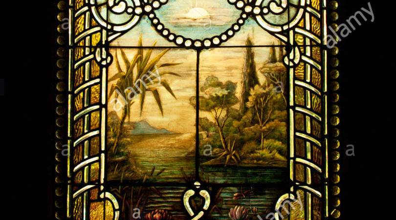 Old Stained Glass Window Victorian Home
