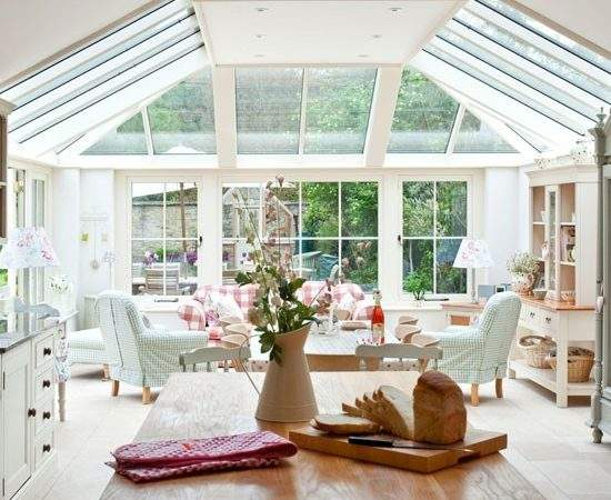 Open Plan Country Conservatory Design Idea