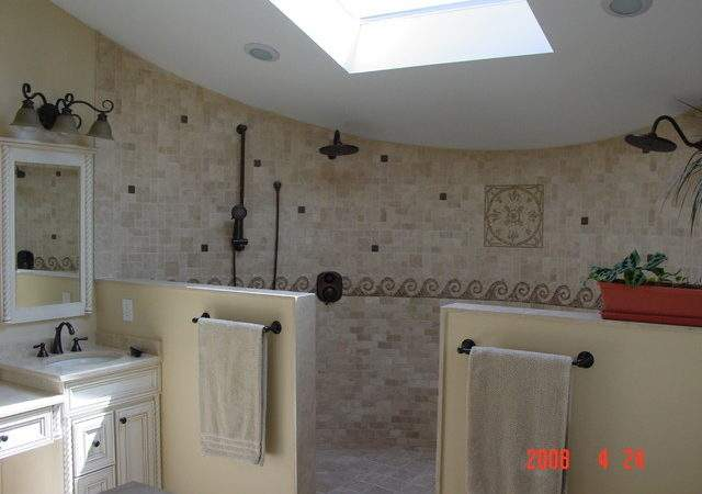 Open Shower Design Traditional Bathroom Other
