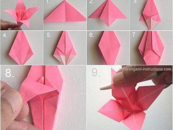 Origami Flowers Can Art Design