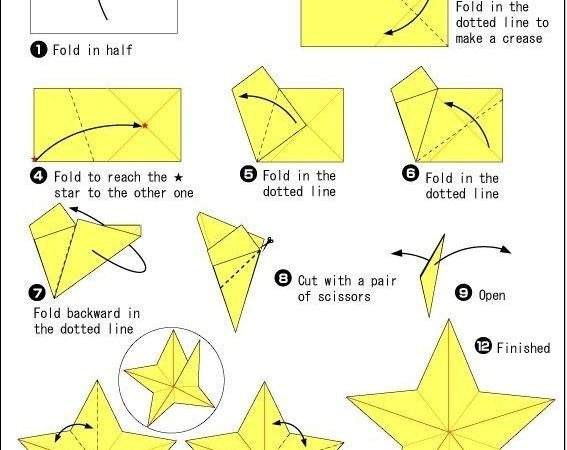 Origami Star Start Any Square Midweight