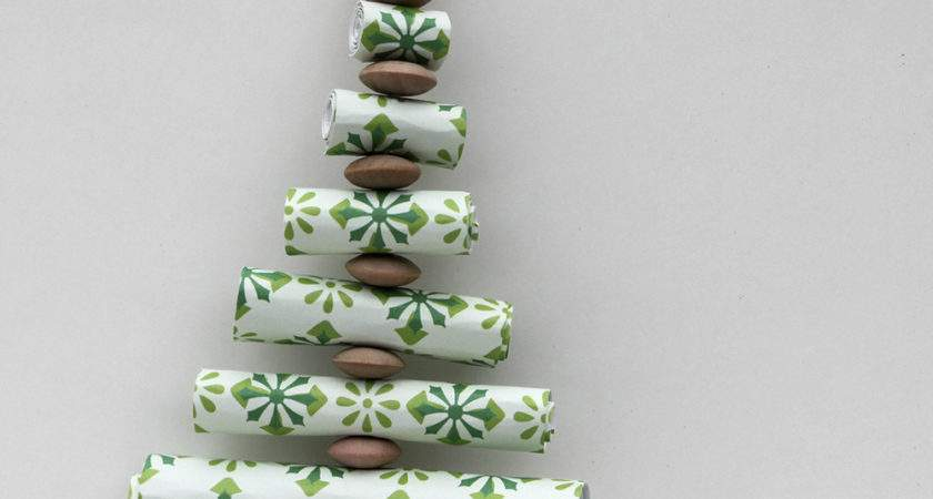 Ornament Advent Day Paper Roll Christmas Trees
