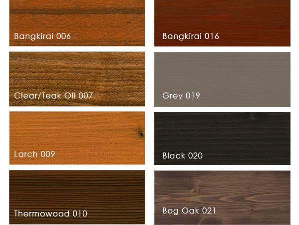Osmo Decking Oil Natural Colours