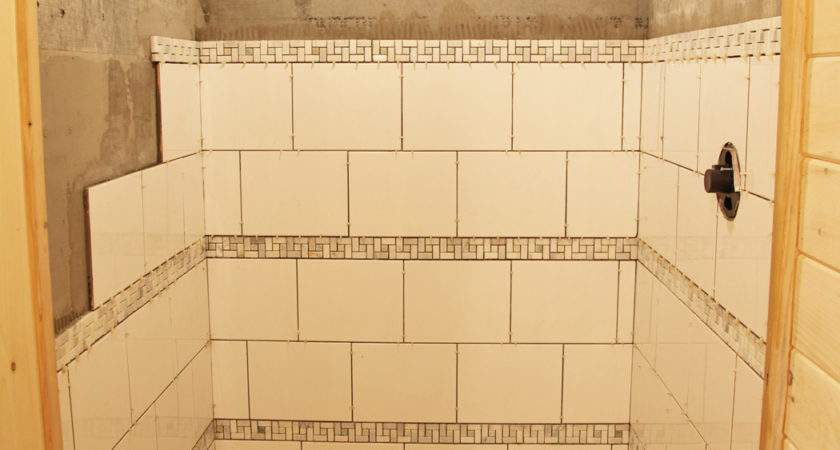 Our Basment Part Shower Tile Stately Kitsch