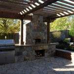 Outdoor Entertaining Area Bbq Pizza Oven