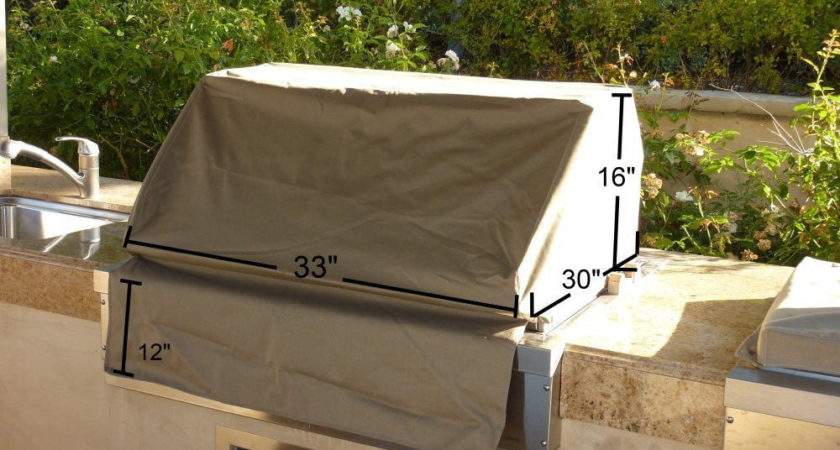 Outdoor Patio Built Drop Bbq Island Gas Grill Cover