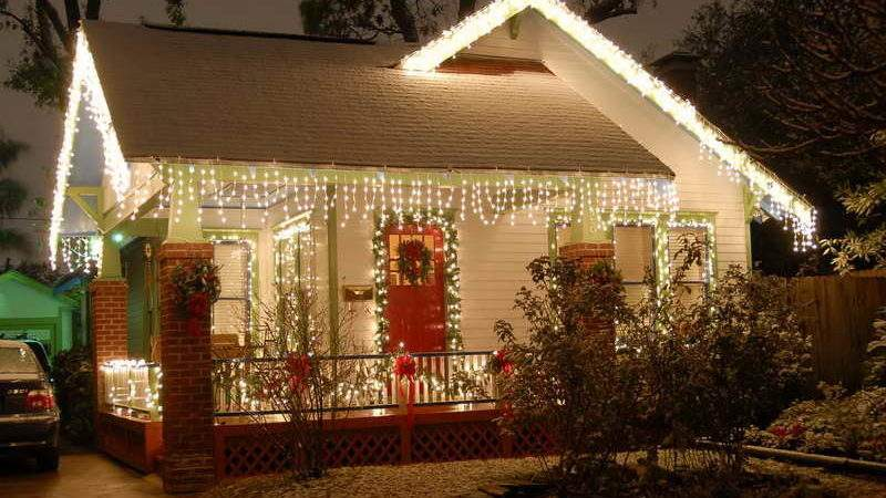 Outdoor Unique Christmas Lights Small House Decor