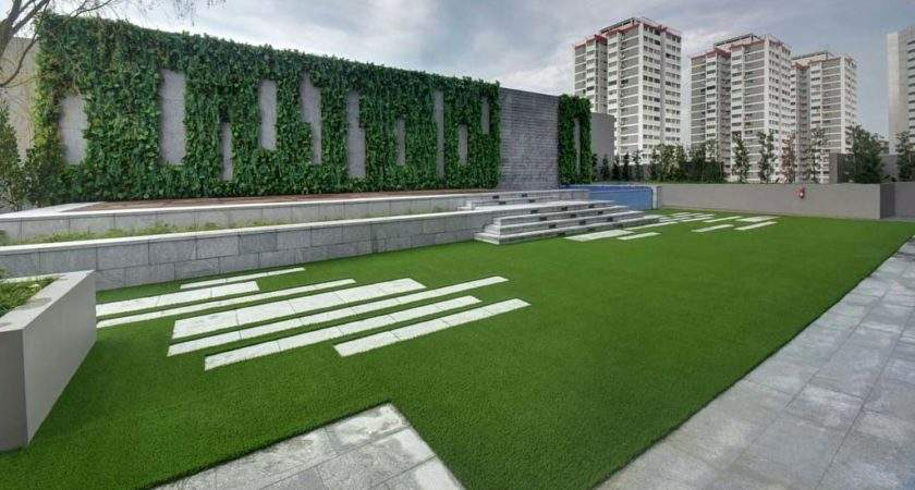 Outdoor Vertical Garden Feature Wall Greenturf Asia
