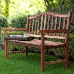 Outdoor Wood Bench Patio Accent Garden Deck Porch Yard