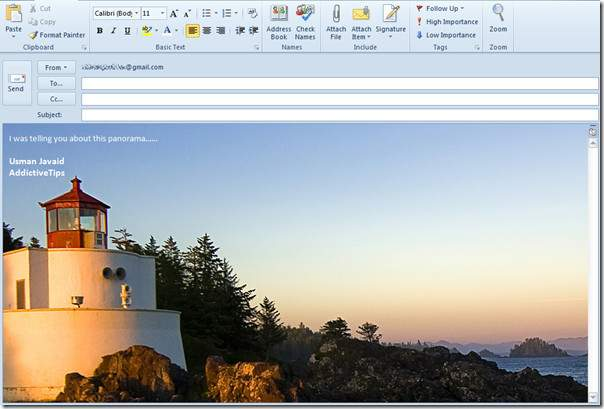 Outlook Add Mail Compose Window