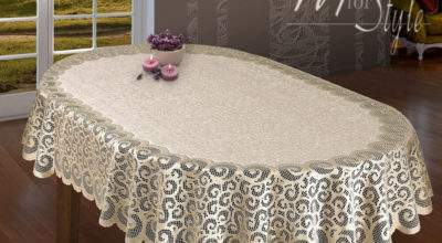 Oval Lace Tablecloth Beige Large Premium Quality Ebay