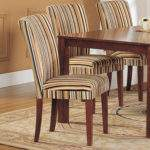 Oxford Creek Striped Upholstered Dining Chair Set