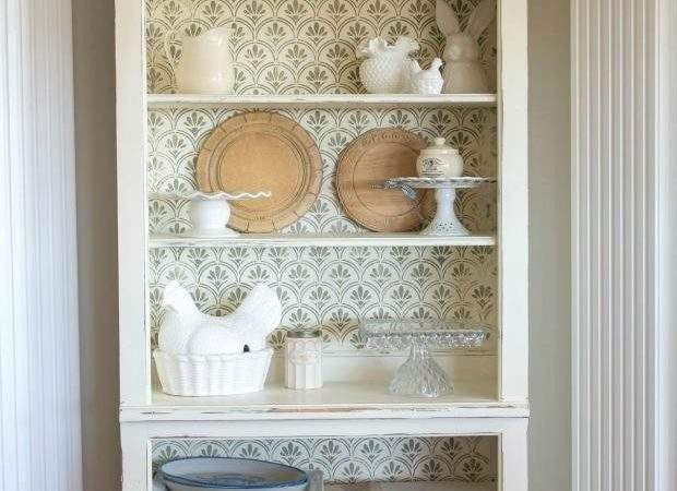 Paint Shabby Chic Bookcase Furniture Stencils