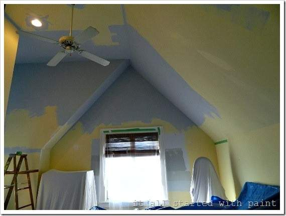 Paint Vaulted Ceiling Without Scaffolding