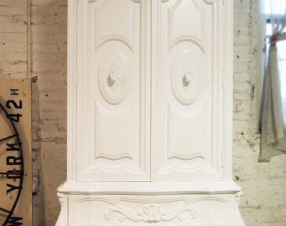 Painted Cottage Chic Shabby French Armoire Paintedcottages