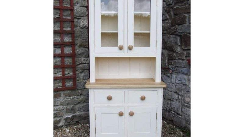 Painted Kitchen Dresser Panelled Glazed Doors
