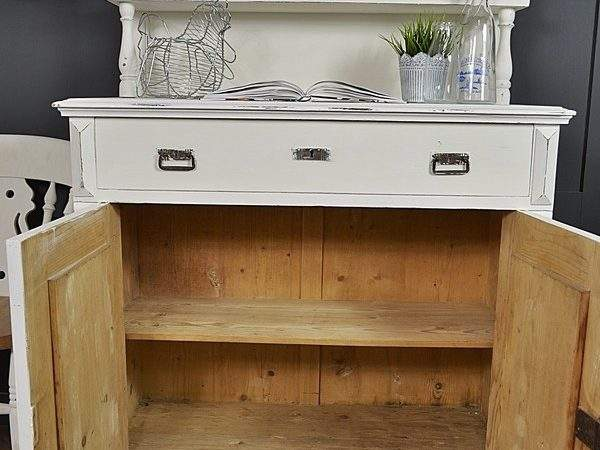 Painted White Shabby Chic Kitchen Dresser Sold Items