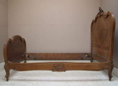Pair Antique French Rococo Style Single Beds