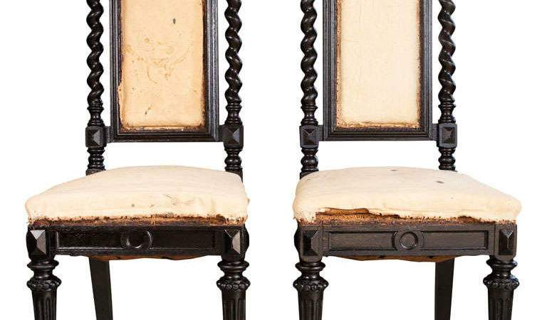Pair Gothic Style Chairs Stdibs