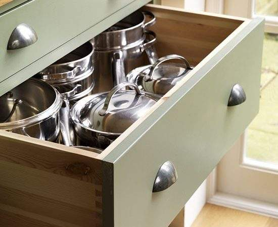 Pan Drawers Step Inside Traditional Muted Green